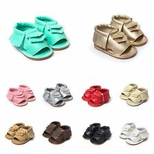 0-18M Baby Boys Soft Sole Crib Shoes Leather Shoes Toddler Girl Tassel Moccasin