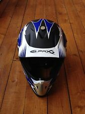 helmet cross GPAX black blue matt white moto cross enduro quad NEW bike helmet