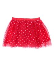 GYMBOREE FUN AT HEARTS RED w/ HEARTS A/O TUTU TULLE SKIRT 12 18 24 2T 3T 4T NWT
