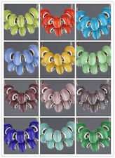 NEW 5Pcs Silver MURANO GLASS BEAD LAMPWORK Fit European Charm Bracelet 15Color