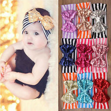 Cute Baby Infant Girls Hair Band Sequined Bow Headband Knot Hair Accessories New
