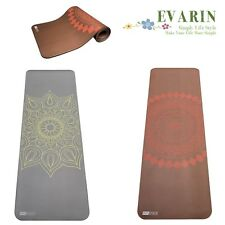 "Design Yoga Pilate Mat 1/2"" Extra Thick Comfort Non Slip Fitness Gym -Exercise"