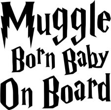 Harry Potter - Muggle Baby On Board - Vinyl Car Window and Laptop Decal Sticker