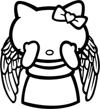 Hello Kitty Doctor Who Weeping Angel - Vinyl Car Window and Laptop Decal Sticker