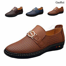 Mens Hollow Out Business Dress Formal Leather Shoe Summer Casual Loafers Sandals