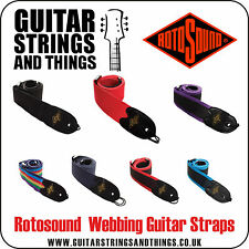 Rotosound GUITAR STRAP Adjustable High Quality Webbing with Leather Ends