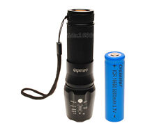Zoomable LED Flashlight 3800lm CREE XML T6 LED Torch Lamp Light 18650 Battery