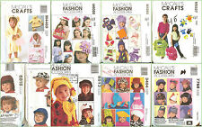 OOP McCalls Sewing Pattern Childs Accessories Apparel Boys Girls You Pick