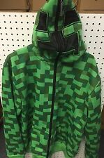 Minecraft Zip-Up Hoodie Creeper Ocelot  Youth Sizes S, M, L, XL Jinx USA