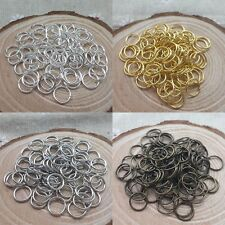 300/2000pc Wholesale Silver/Gold Plated Open Metal Jumping Rings Finding 4/6/8mm