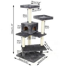 143CM Cat Tree Scratching Post Large Pole Gym Condo House Furniture Play Fun Toy