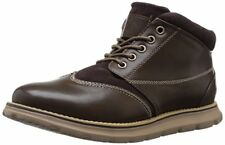 Men's Faux Leather Tan Brown Boots Cheap New Ankle High Chukka New US Polo Assn.
