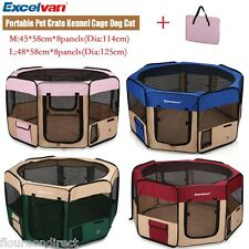 Excelvan Portable Foldable Fence Exercise Oxford Pet Puppy Tent Dog Cat Playpen