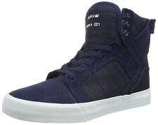 Supra Skytop Navy White Mens Suede Skate Trainers Boots