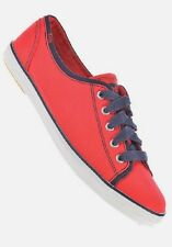 KEDS 'Rally' Ladies Red Lace Up Lightweight Canvas Pumps Sneakers