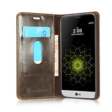 Flip Case Magnetic Stand Real Leather Card Slot Wallet Caseme Cover for LG G5
