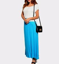 New Womens Blue White Long Maxi Summer Casual Sun Sleeves Cocktail Dress S M L