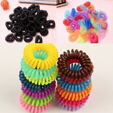 12pcs Black Colorful Girl Elastic Rubber Hair Ties Band Rope Ponytail Holder Hot