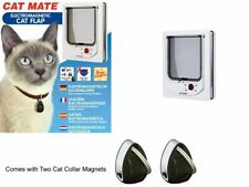 Pet Mate Cat Flap Magnetic Collar Magnet Operated Door Kitten Small Dogs