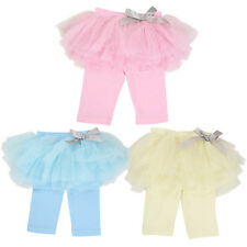 Girls Culottes Pleated Gauze Pants Tutu Skirts Bow Party Princess Dress Leggings