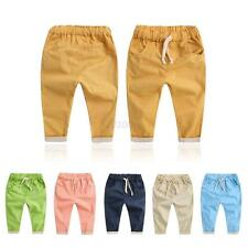 Summer Soft Cotton Pants Trousers Kids Boys Girls Trousers Harem Pants 2-7 Years