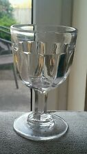 Georgian Antique English Lead Rummer Drinking Glass with Petal Flutes