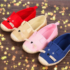 Children Kid Girls Boys Cartoon Canvas Casual Shoes Sports Slip On Soft Sneakers