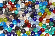 6-7 mm Glass Beads -**Big Hole** Good for 1.5 mm Cord-Pack of 140 or 280 Beads