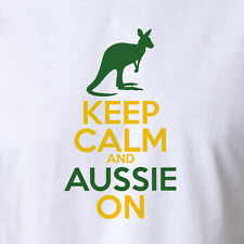New Australia Day T-shirt Keep Calm And Aussie On Aussie Pride Southern Cross