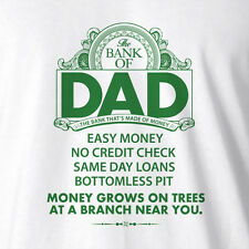Funny Men's Dad Daddy T-shirt The Bank Of Dad - Fathers day gifts dad birthday