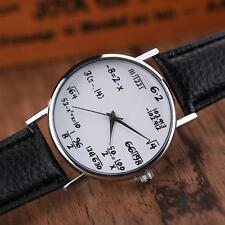 Fashion Womens Mens Watch Leather Stainless Steel Watch Sport Quartz Wrist Watch