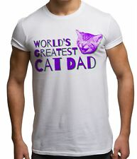 Worlds Greatest Cat Dad Funny Animal Lover Kitten Fathers Day T Shirt Gift