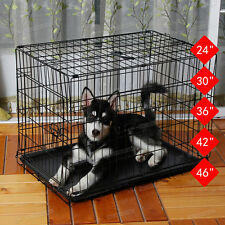 DOG PUPPY PET CAGE METAL FOLDING TRAINING CAGE CRATE TRAVEL CARRIER DOG SUPPLY