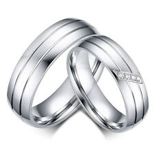 Couple Stainless Steel Ring Women/Men's Engagement&Wedding Band Rings Fashion