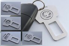 Car Seat Safety Metal Buckle Clip Alarm Stopper Key Ring With Logo Vehicle
