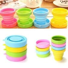 170ml Silicone Foldable Collapsible Cup with Lid for Outdoor Camping Traveling
