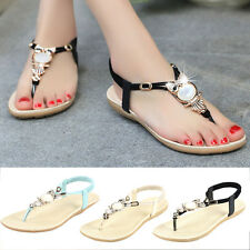 Fashion Womens Summer Bohemia Slippers Flip Flops Flat Sandals Beach Thong Shoes