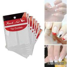 UK DIY Nail Art French Tips Guide Stencil Tape Manicure polish Form Stickers