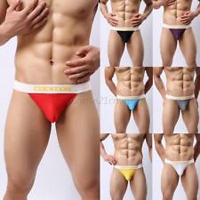 Mens Cozy Mesh Holes Briefs Underwear Boxers Underpants Low Rise Jockstrap M-XXL