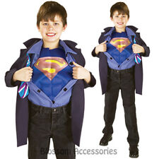 CK678 Reversible Clark Kent Superman Superhero Hero Fancy Kid Child Boys Costume