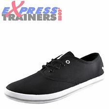 Voi Jeans Fiery Mens Classic Casual Canvas Plimsolls Pumps Trainers Black