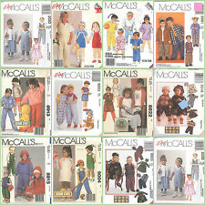 OOP McCalls Sewing Pattern Kids Toddlers Unisex Boys Girl You Pick