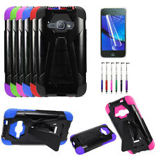 AT&T GoPhone Samsung Galaxy Express Prime Case, Hybrid Cover Stand + Film + Pen