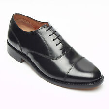Lucini Mens Leather Black Oxford Goodyear Welted Shoes