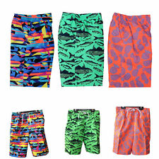 BOYS SWIMMING SHORTS AGE 8-9 YEARS ASSORTED DESIGNS MESH TRUNK LINING