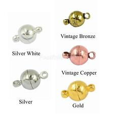 10Sets Two Parts Round Power Magnetic Clasps Jewelry Making Findings