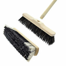 120cm Long Sweeping Broom Brush Soft Natural Bristle Wooden Handle Tough Durable