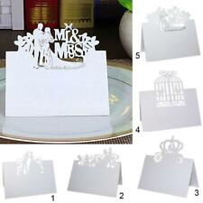50Pcs Wedding Engagement Party Name Place Table Laser Cut Cards (Choose Pattern)