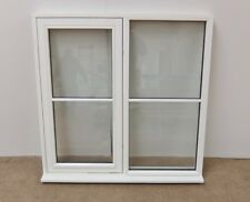 White Finished Flush Centre Bar Wooden Timber Window 1200x1200mm ( 1195x1195 )