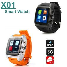 X01 Smart Watch Phone 3G Wifi GPS WCDMA Android SmartWatch Waterproof 2 Color